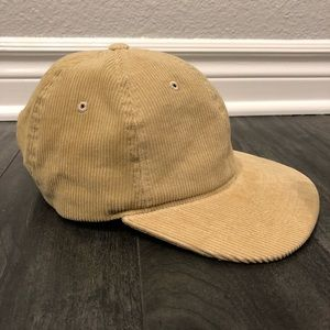 Mustard color corduroy hat